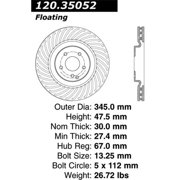 StopTech 128.35052L StopTech Sport Rotors; Drilled; Front Left;13.58 in. Dia.; 1.87 in. Height;