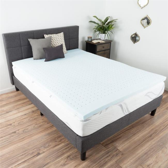 Bluestone M892031 2 in. Gel Infused Memory Foam Mattress Topper, Full Size