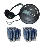 Naxa NPC330 Slim Personal CD/MP3 Player With FM Radio & Fiji AAA 40 PK