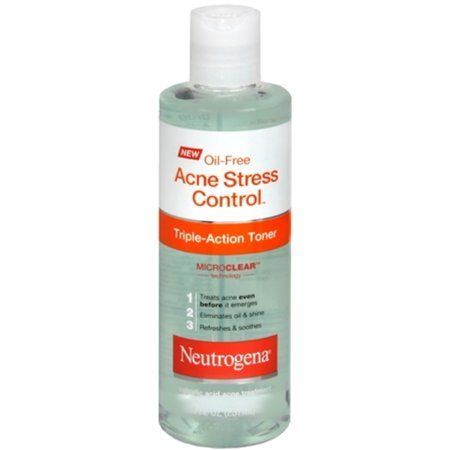 Dual Action Toner (Neutrogena Oil-Free Acne Stress Control Triple Action Toner 8 oz (Pack of)