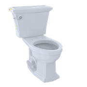 TOTO® Clayton® Two-Piece Elongated 1.6 GPF Universal Height Toilet, Cotton White - CST784SF#01