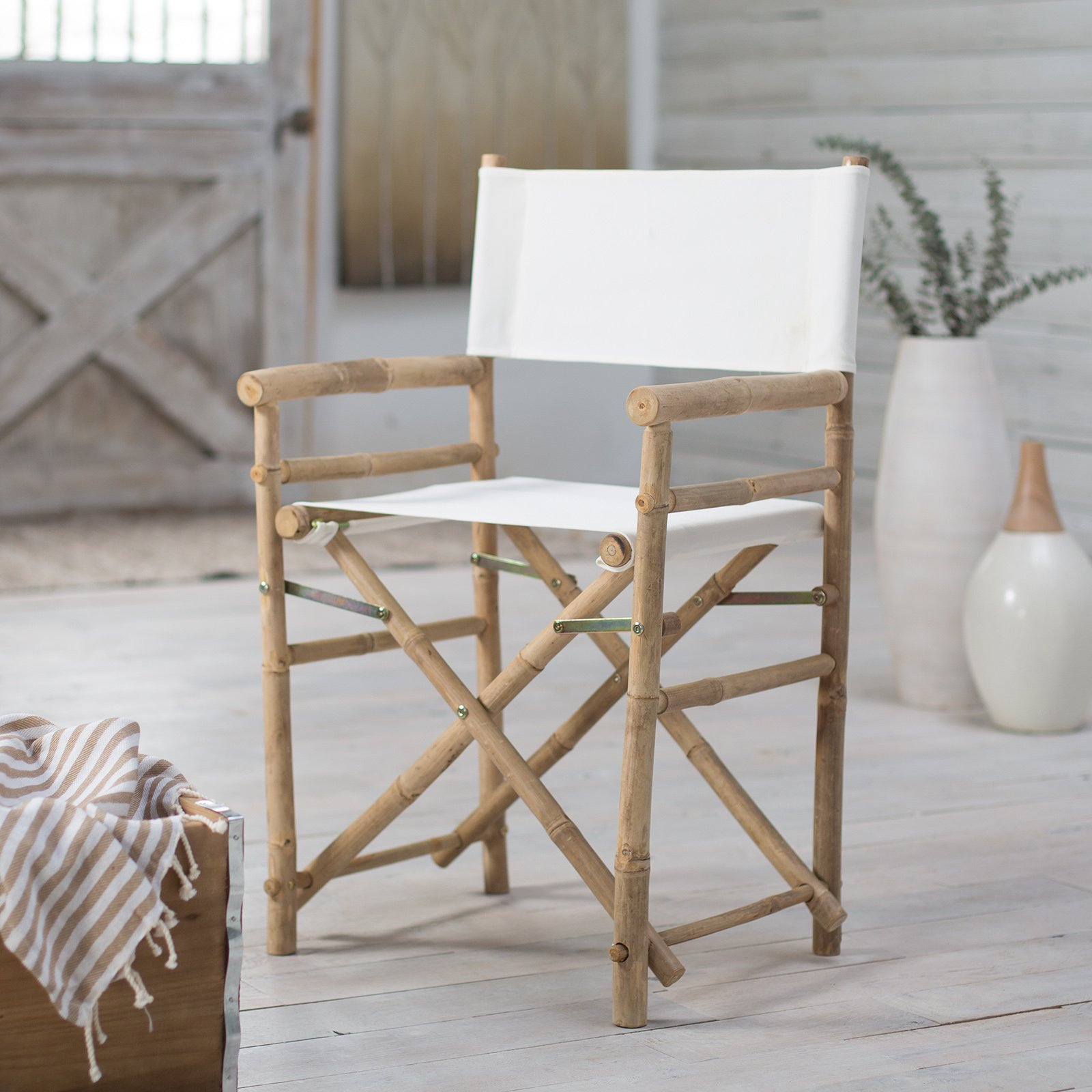 Delicieux Bamboo 18 Inch Standard Height Directors Chairs With Solid Cover   Set Of 2    Walmart.com