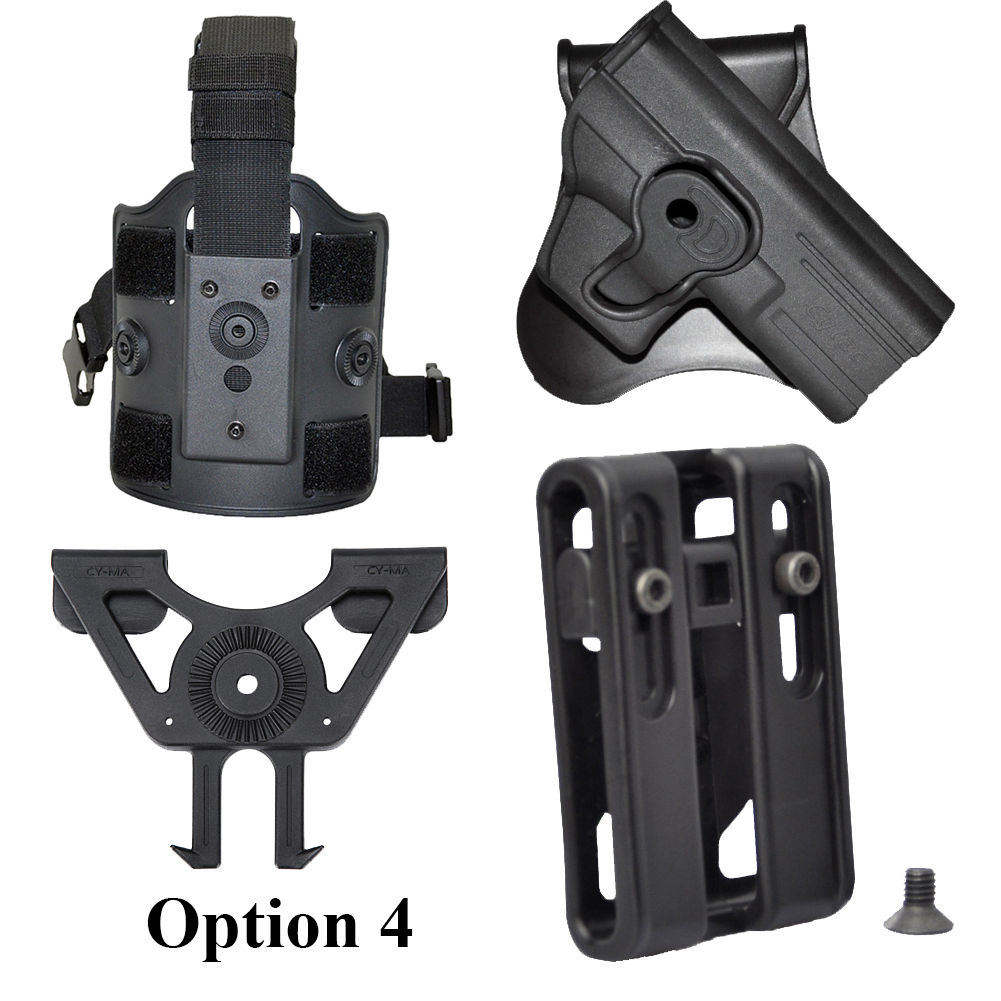 Tactical Scorpion: Fits Sig Sauer P320 Carry Level II Retention Paddle Holster
