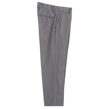 Boys Gray Flat Front Formal Special Occasion Dress Pants 8-18