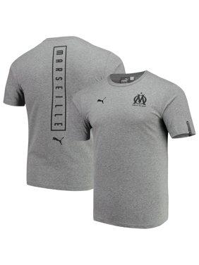 f0fcf5bfece Product Image Olympique Marseille Puma Team Fan T-Shirt - Heathered Gray