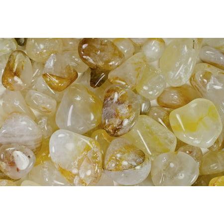 Crystolon Medium Stone - Fantasia Crystal Vault: 1/2 lb Hemotoid Crystal Tumbled Stones - Medium - 1