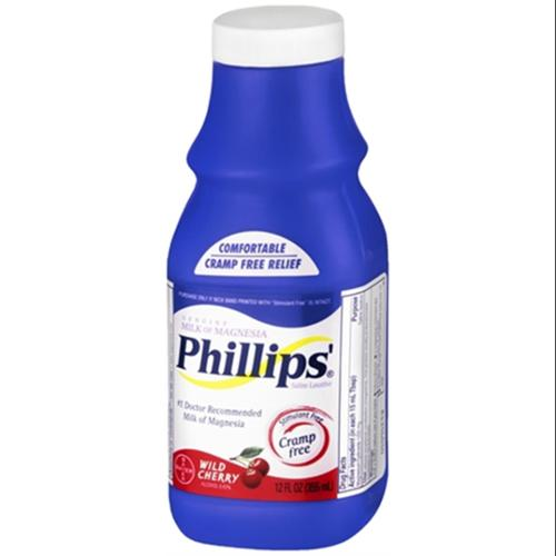 Phillips' Milk of Magnesia Wild Cherry 12 oz (Pack of 4)