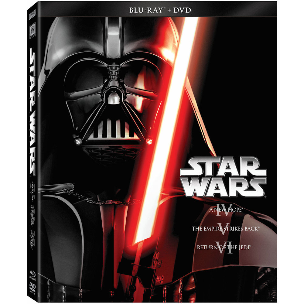 Star Wars: The Original Trilogy A New Hope   The Empire Strikes Back   Return Of The Jedi (Blu-ray + DVD)... by