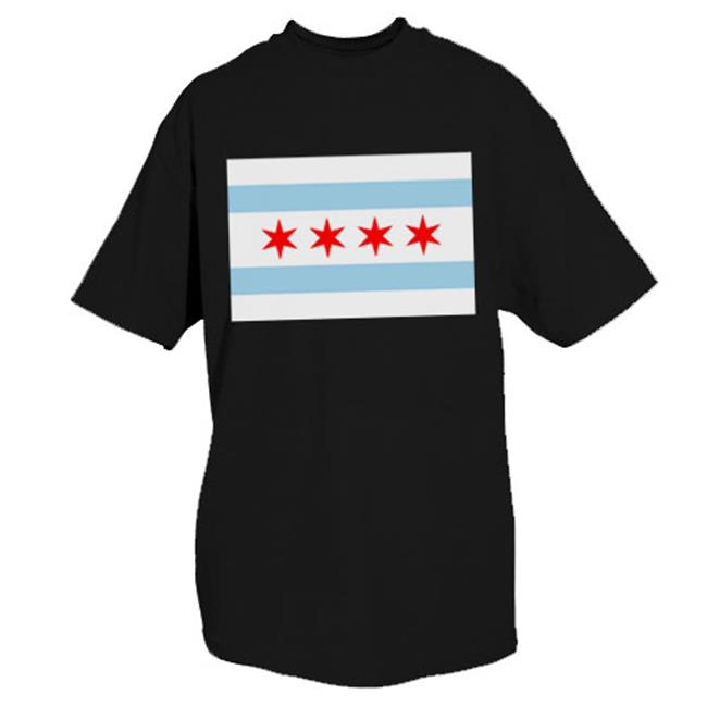 Chicago Flag T Shirt Grey Medium