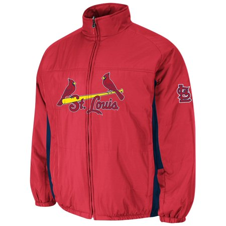St. Louis Cardinals Majestic MLB On-Field Double Climate Therma Base Jacket by