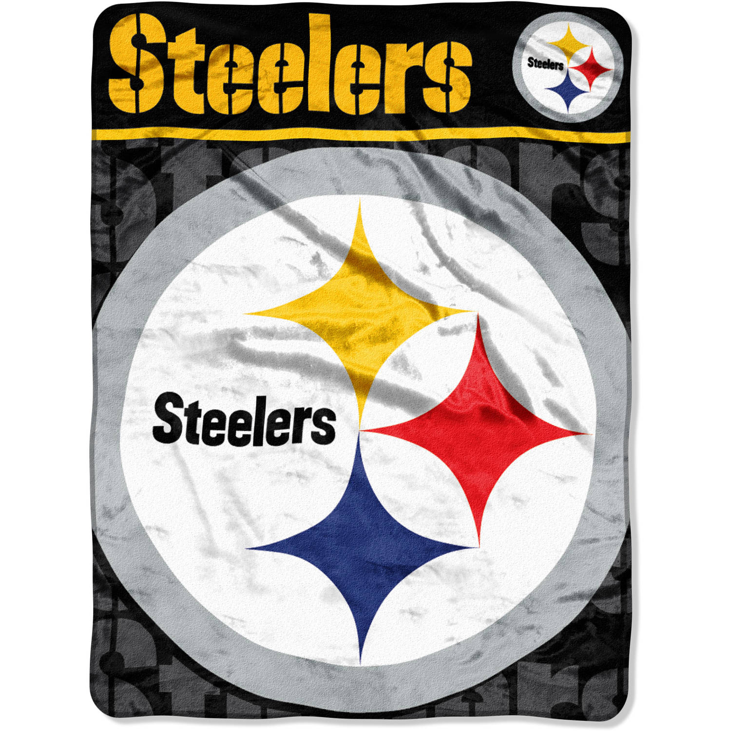 "NFL Pittsburgh Steelers 46"" x 60"" Micro Raschel Throw"