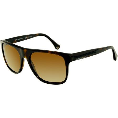 548238453e6 Emporio Armani Men s Polarized EA4014-5026T5-56 Tortoiseshell Square  Sunglasses - Walmart.com