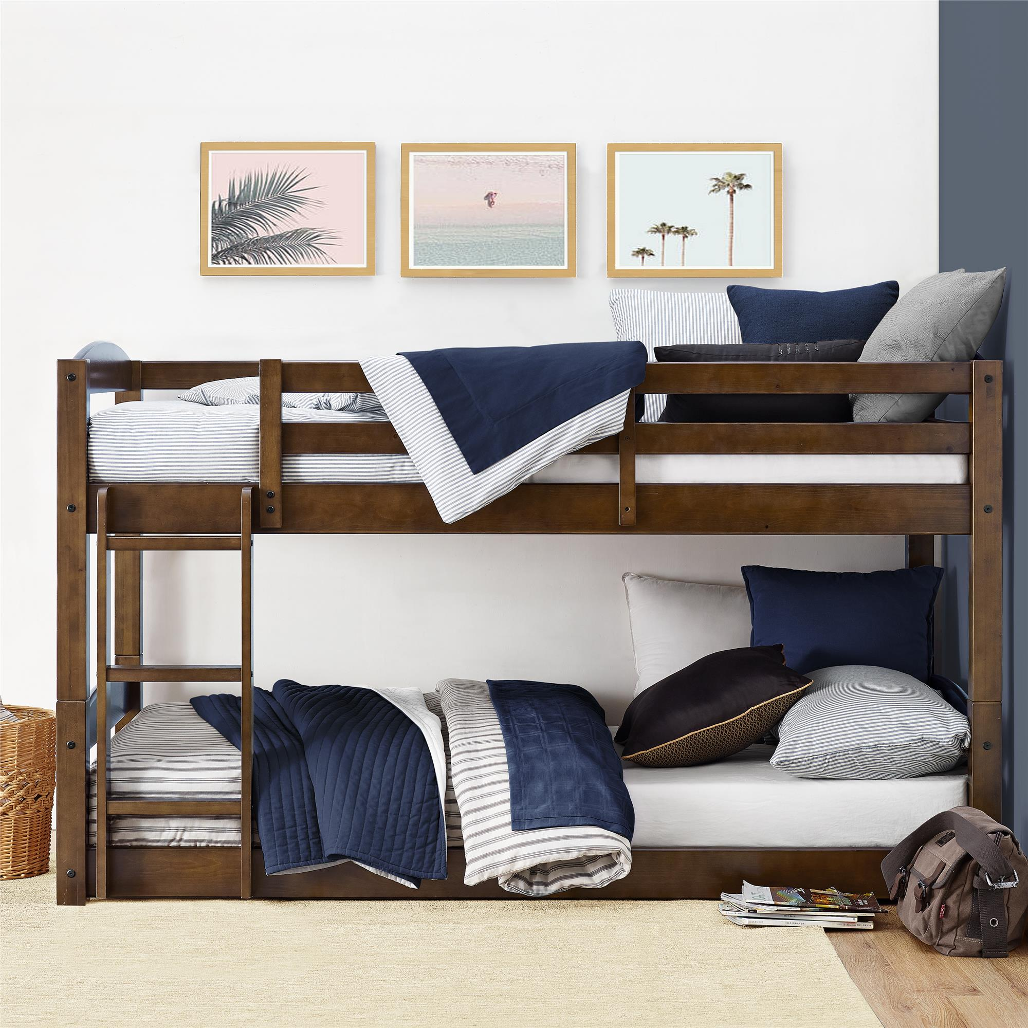 Better Homes and Gardens Sullivan Twin Bunk Bed, Mocha
