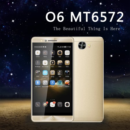 2017 New O6 Android 6.0 1GB +8GB MT6572 Dual Core 5 inch LCD 960*540 Mobile Phone