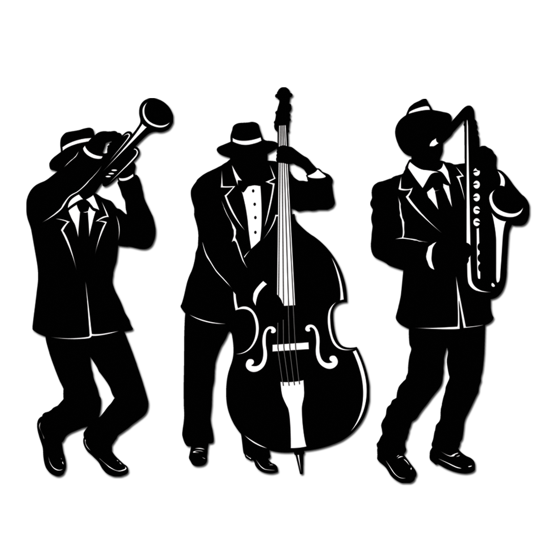 Beistle - 57770 - Jazz Trio Silhouettes-Pack de 12 - image 1 de 1