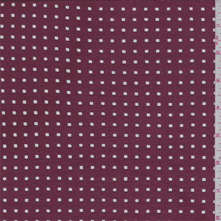 Pomegranate Laser Cut Microsuede Knit, Fabric Sold By the Yard