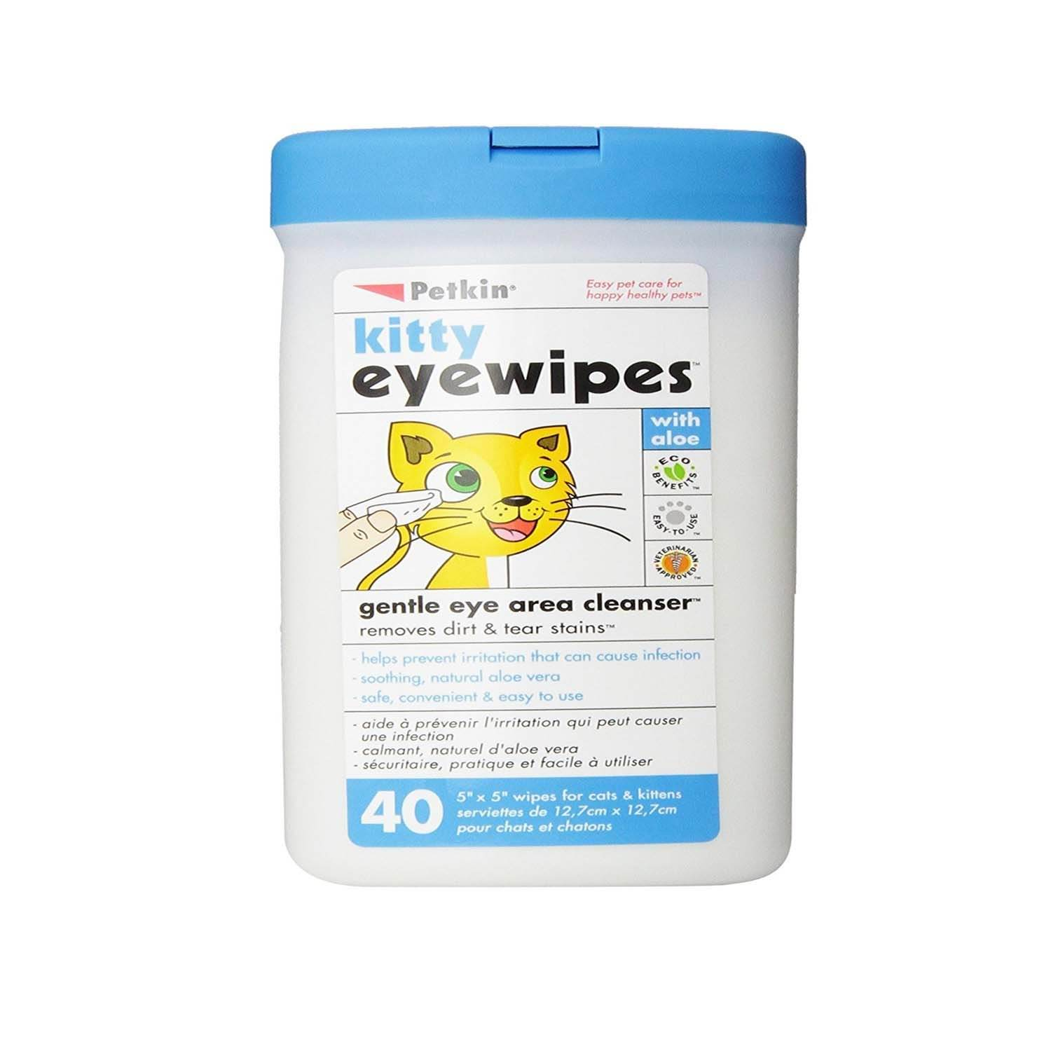 Petkin Kitty Eyewipes 40 count