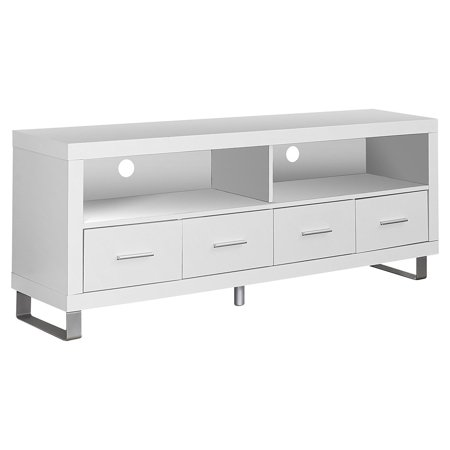 (Monarch Hollow-Core TV Console in Cappuccino with Drawers)