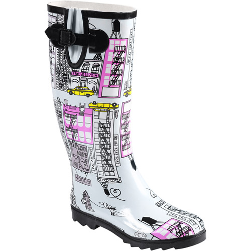 Brinley Co Womens Graphic Print Rainboots