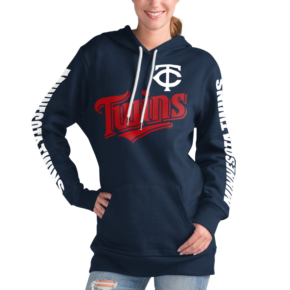 Minnesota Twins G-III 4Her by Carl Banks Women's Extra Innings Pullover Hoodie - Navy