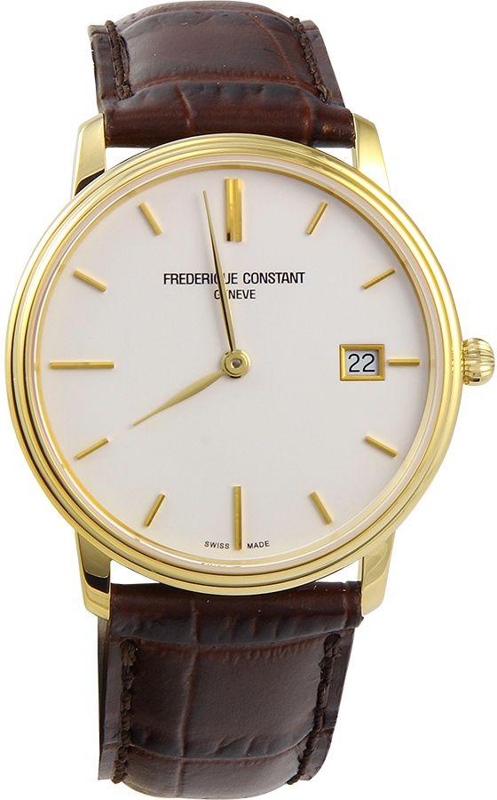Frederique Constant Slim Line White Dial Men's Watch