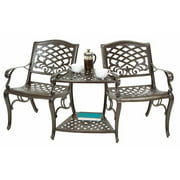 Outdoor Double Chair in Bronze Finish