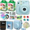 FujiFilm Instax Mini 8 Camera BLUE + Accessories KIT for Fujifilm Instax Mini 8 Camera includes: 40 Instax Film + Custom Case + 4 AA Rechargeable Batteries + Assorted Frames + Photo Album + MORE