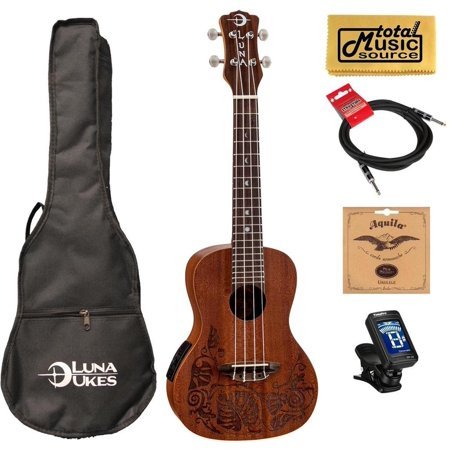 luna mahogany series mo 39 o acoustic electric concert ukulele w gigbag tuner strings cable pc. Black Bedroom Furniture Sets. Home Design Ideas