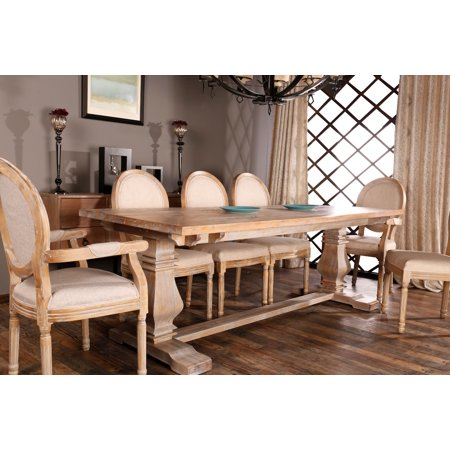Classic Rustic Style Rectangular Dining Room Kitchen Table - Walmart.com