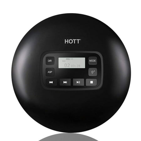 Portable CD Player, HOTT CD611 Personal Compact Disc Player LCD Display, Stereo Earbuds USB Cable, Electronic Skip Protection Anti-Shock (Best Sounding Portable Cd Player)