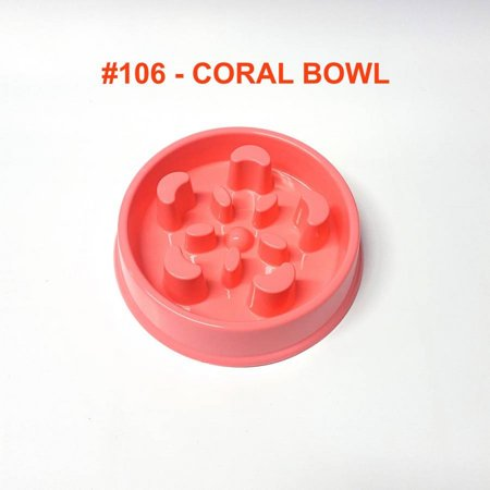 Alpha Dog Series Fun Slow Feeder Bowl - CORAL (PINK) Series Dog Bowl