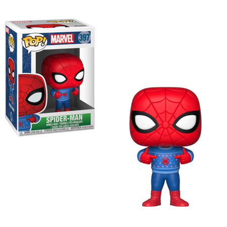 - Funko POP Marvel: Holiday - Spider-Man w/ Ugly Sweater