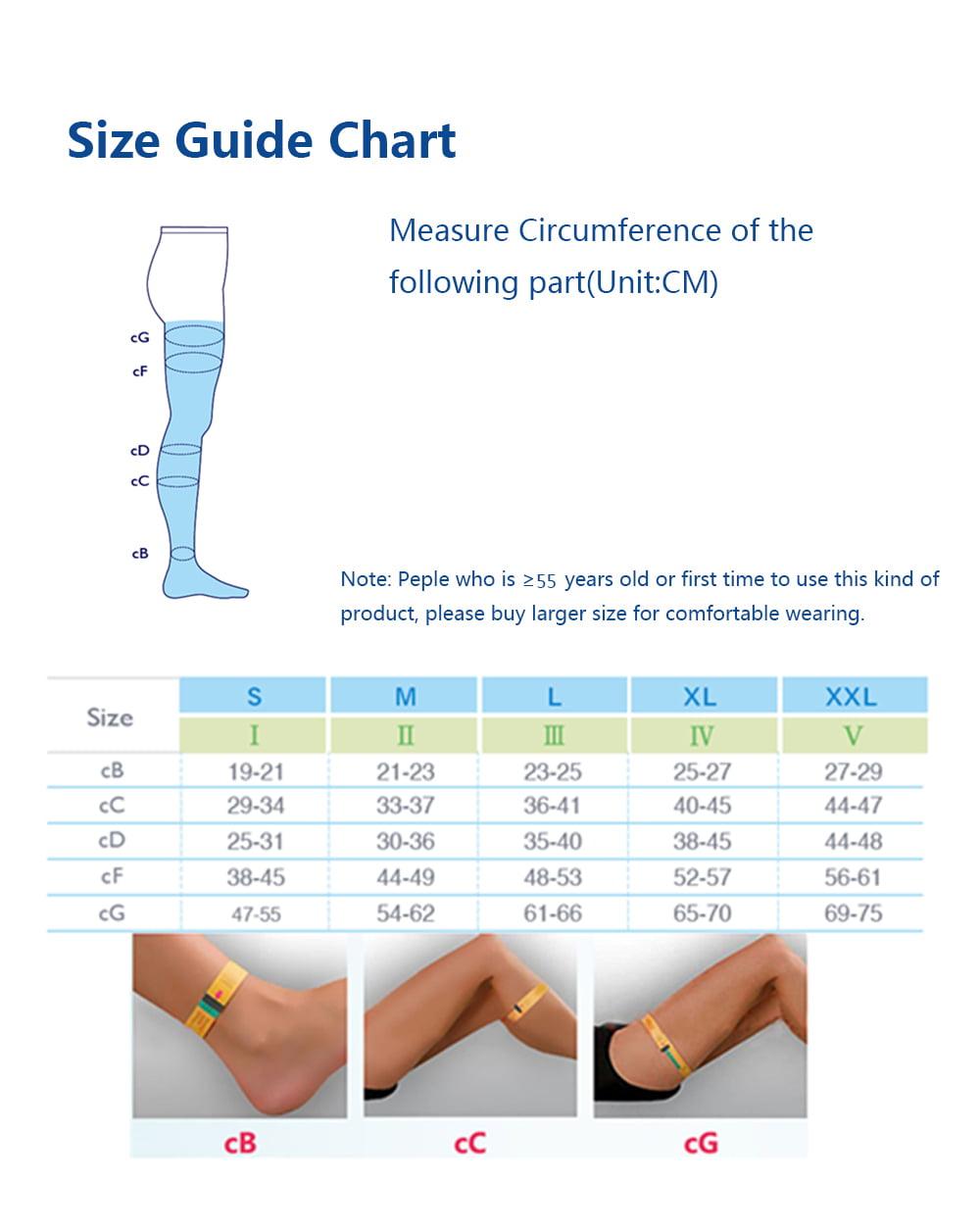 Class 2 High Pressure Compression support Socks stockings Open toe 30-40mmhg Tan