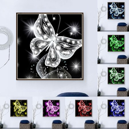 Heepo Butterfly Pattern Full Diamond Painting DIY Handmade Art Wall Decoration Gift
