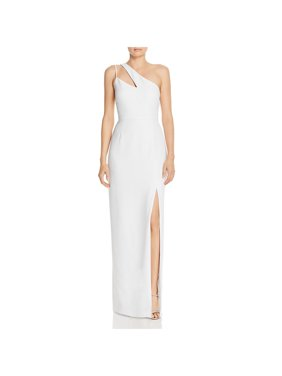 Laundry by Shelli Segal Womens One Shoulder Side Slit Evening Dress