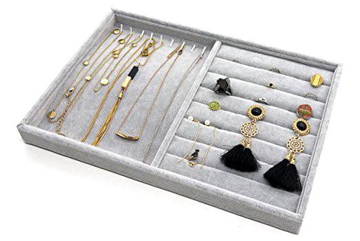 PuTwo Jewelry Box Jewelry Organizer Drawer Organizer Lint Jewelry