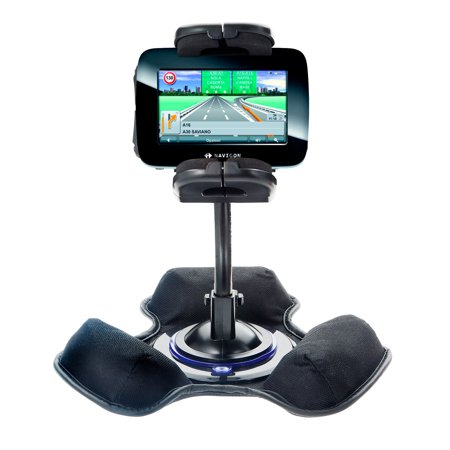 Car / Truck Vehicle Holder Mounting System for Navigon 5100 Includes Unique Flexible Windshield Suction and Universal Dashboard Mount Options ()