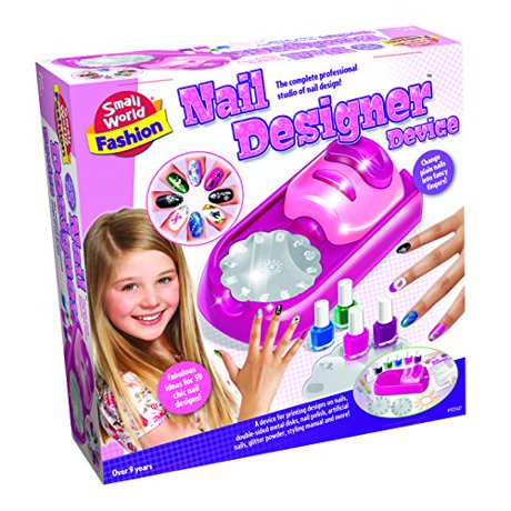Small world toys fashion nail designer device makeup kit for Jewelry making kit for 4 year old