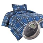 Sunbeam Premium Electric Heated Warming Comforter Set w Pillow Sham