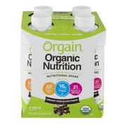 Orgain Organic Nutrition All-In-One Nutritional Shake, Creamy Chocolate Fudge, 16g Protein, 11 Fl Oz, 4 Ct