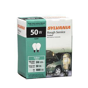 GE 50A//RS 50-Watt Incandescent Rough Service A19 Lamp Light Bulb 50W 6-Pack