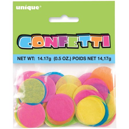 Round Tissue Paper Confetti, 1 in, Multicolor, 0.5 oz](Biodegradable Confetti)
