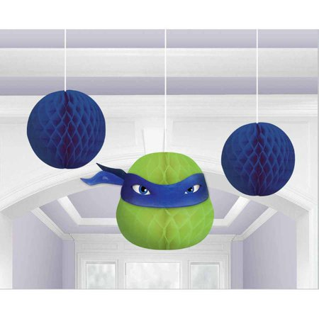Teenage Mutant Ninja Turtles Honeycomb Decorations - Ninja Turtles Party Decorations