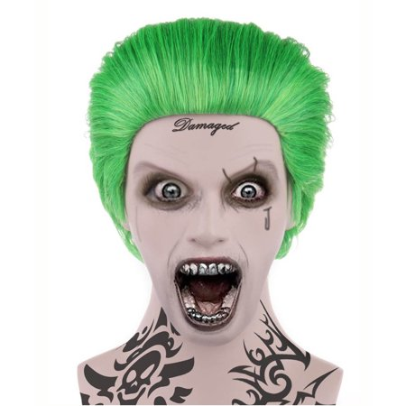 Sadistic Villian Wig, Green Kids HM-045