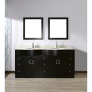 Bauhaus Bath Zed 72'' Double Bathroom Vanity Set with Mirror