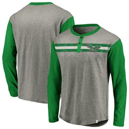 6d34e5f0 Philadelphia Eagles NFL Pro Line by Fanatics Branded Big & Tall True  Classics Henley Long Sleeve T-Shirt - Heathered Gray/Midnight Green -  Walmart.com