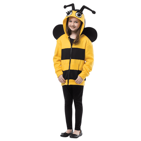 Bumble Bee Hoodie Child Halloween Costume, One Size, (3-4) - Bumble Bee Wings Halloween