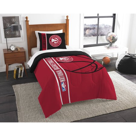 Atlanta Hawks Printed Twin Comforter and Sham Set by