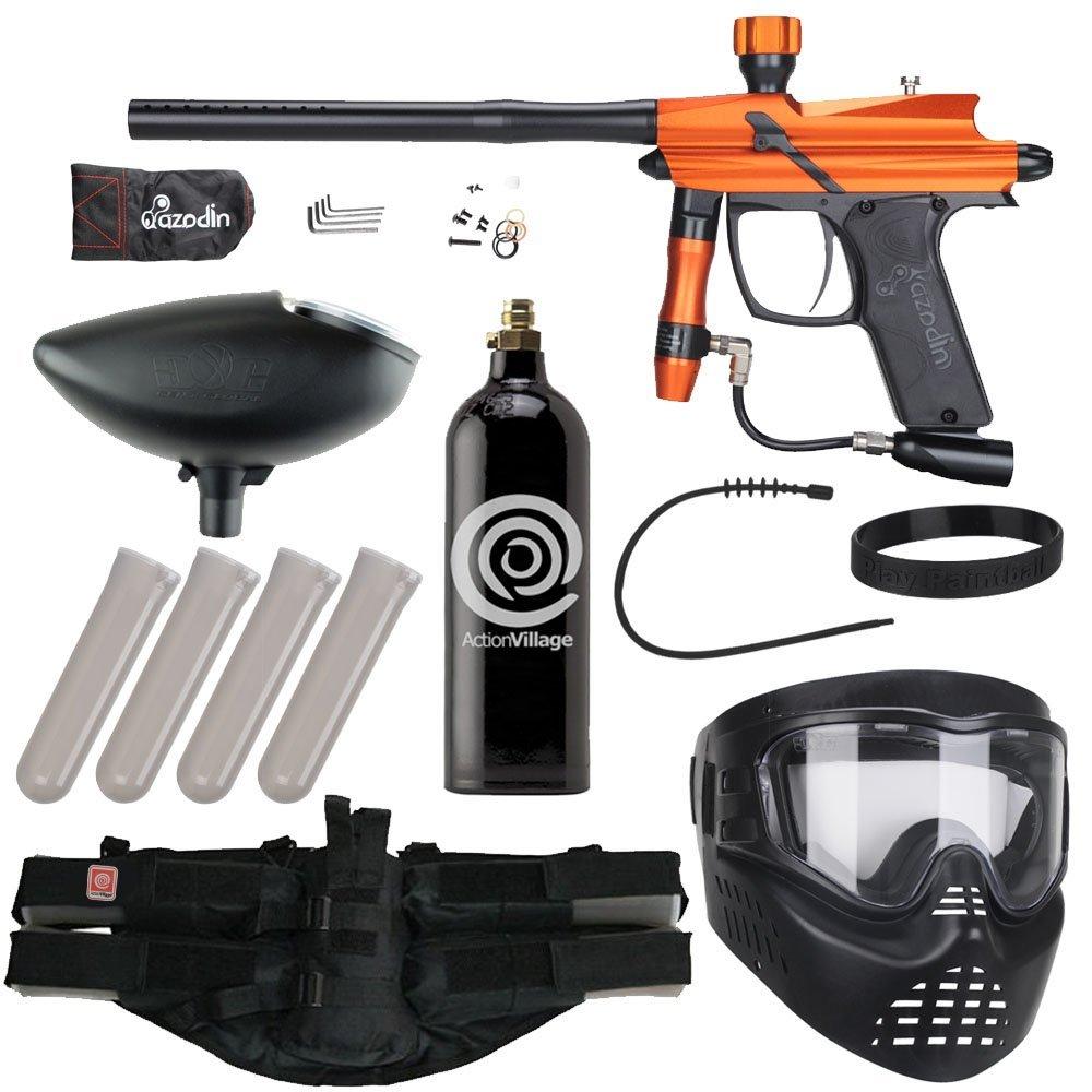 Azodin Blitz Epic Paintball Gun Package Kit Matte Orange Black by