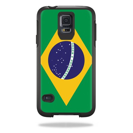 Mightyskins Protective Skin Decal Cover for OtterBox Symmetry Samsung Galaxy S5 Case wrap sticker skins Brazilian Flag